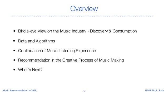 Music Recommendation 2018 Slide 3
