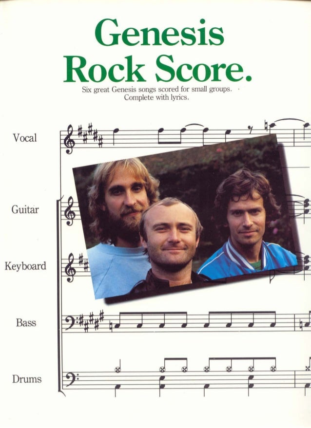 Music sheet   genesis - songbook [full band score]