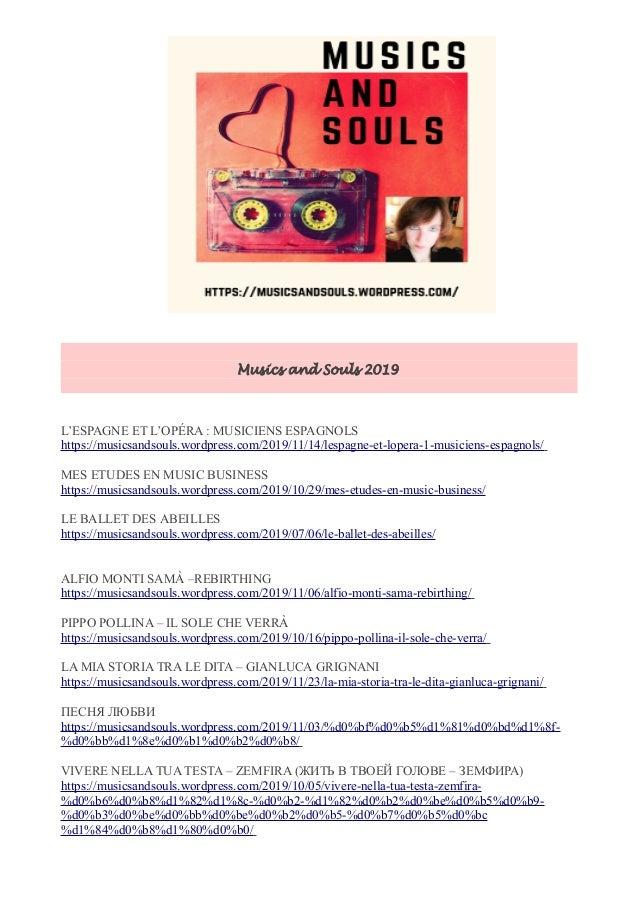 Musics and Souls 2019 L'ESPAGNE ET L'OPÉRA : MUSICIENS ESPAGNOLS https://musicsandsouls.wordpress.com/2019/11/14/lespagne-...