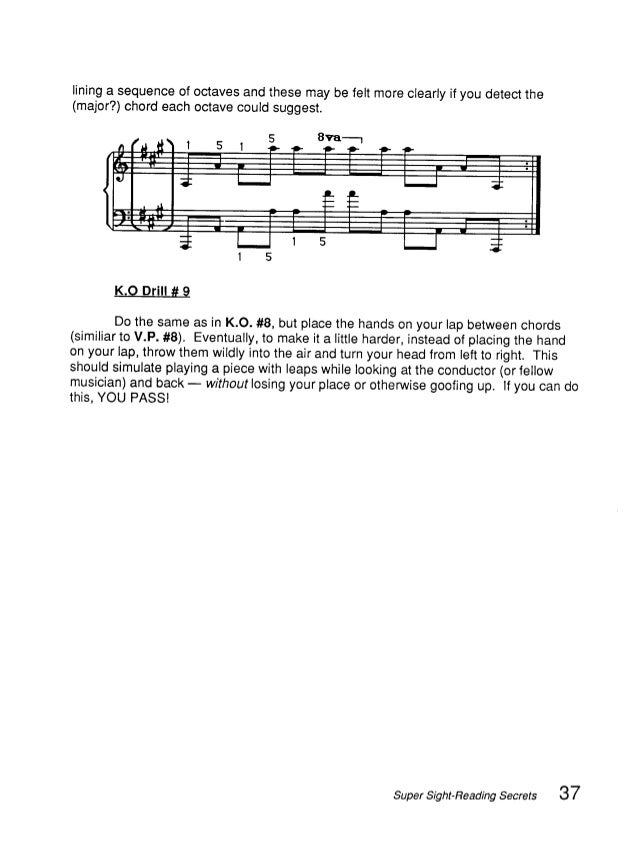 Music Theory Super Sight Reading Secrets