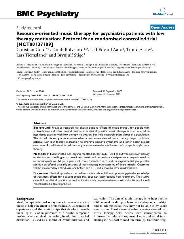 BioMed Central Page 1 of 8 (page number not for citation purposes) BMC Psychiatry Open AccessStudy protocol Resource-orien...