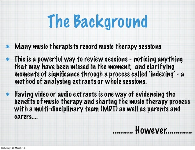 examples of music therapy sessions