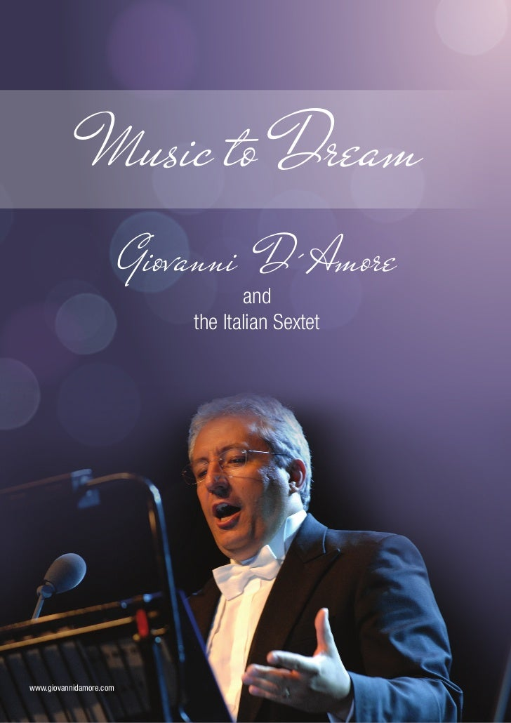 Music to Dream                         Giovanni D´Amore                                    and                            ...