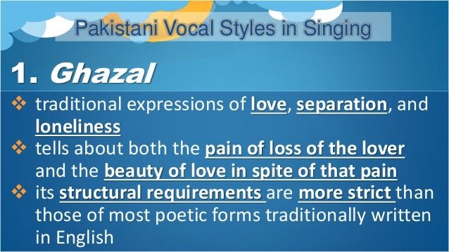 Pakistani Vocal Styles in Singing 2. Qawwali  the devotional music of the Chishti Order  a vibrant musical tradition tha...