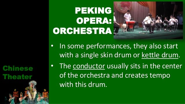 • In some performances, they also start with a single skin drum or kettle drum. • The conductor usually sits in the center...