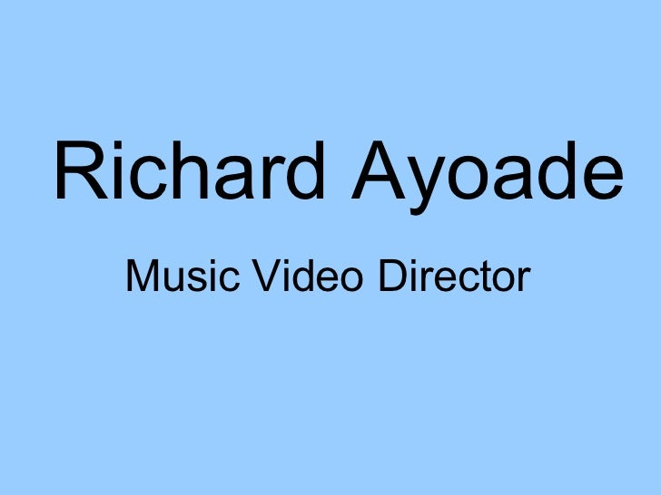 Richard Ayoade Music Video Director