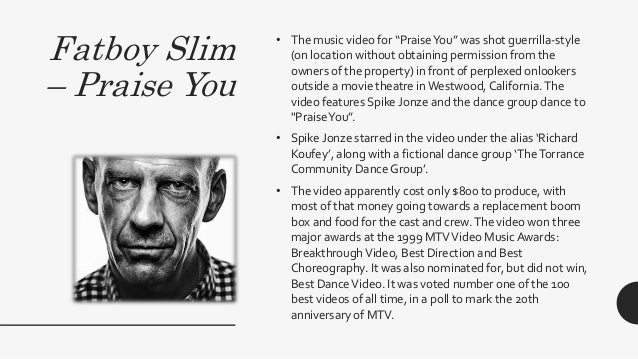 """Fatboy Slim – Praise You • The music video for """"PraiseYou"""" was shot guerrilla-style (on location without obtaining permiss..."""