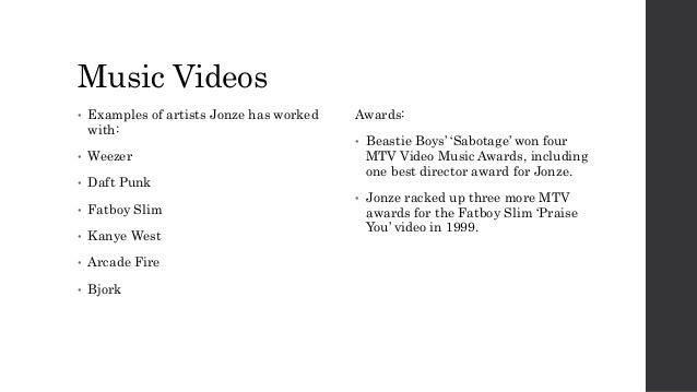 Music Video Director Research - Spike Jonze