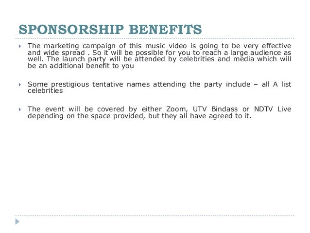 Music Video - Sponsorship Proposal