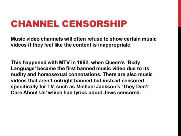 why is music censored