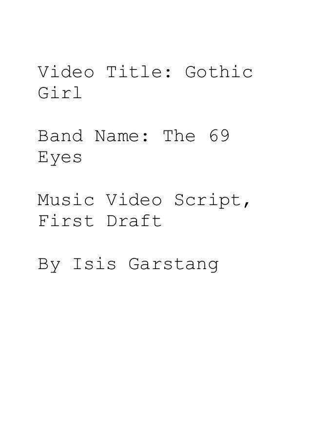 Music video script_final draft