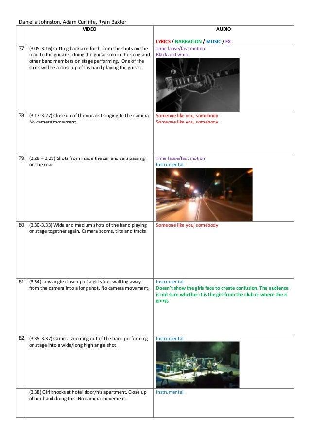 Lyric on the road again lyrics : Music video script