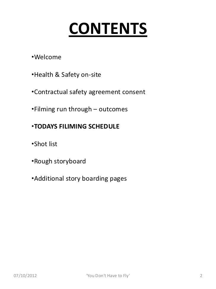 Music Video Information Pack Slide 2