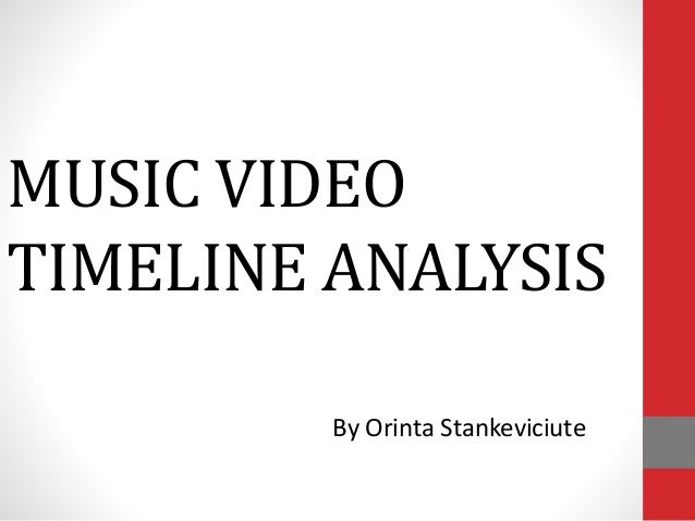 MUSIC VIDEO TIMELINE ANALYSIS By Orinta Stankeviciute