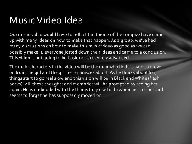 how to write music video treatment