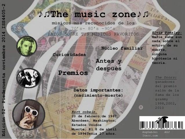 ♪♫The music zone♪♫ músicos mas reconocidos de los 70's- 80's -90's DATOS SOBRE TUS MÚSICOS FAVORITOS  Edición 52- Piedecue...