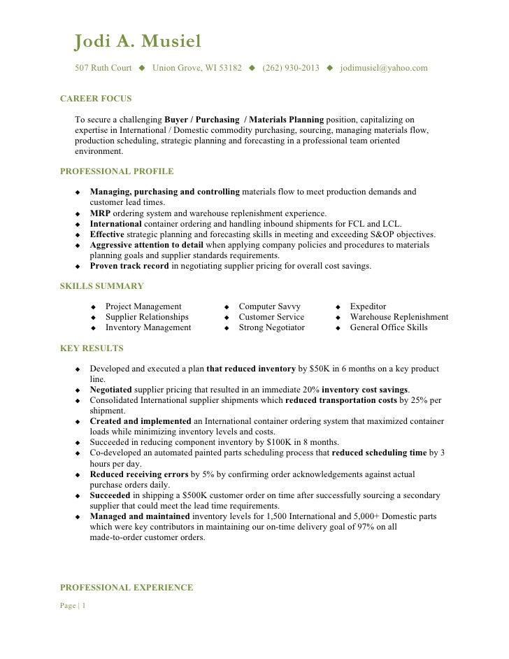 Buying resume