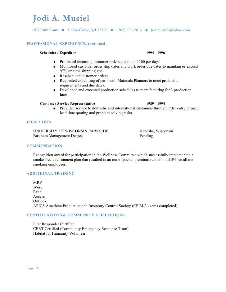 procurement coordinator resumes