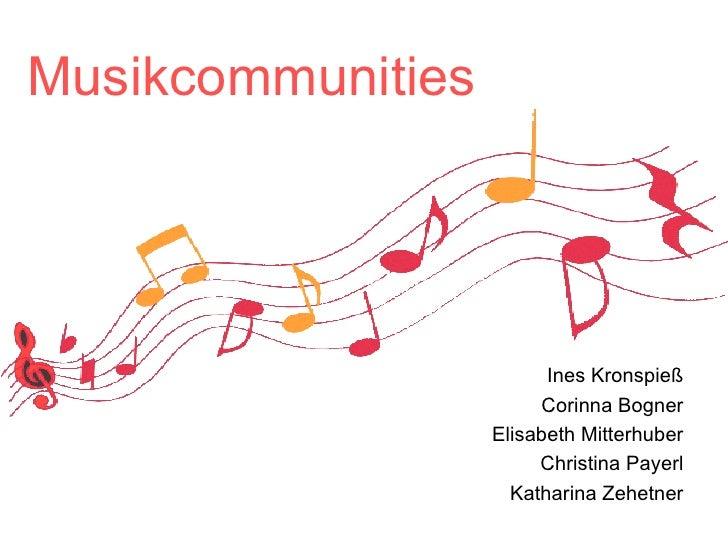 Musikcommunities Ines Kronspieß Corinna Bogner Elisabeth Mitterhuber Christina Payerl Katharina Zehetner