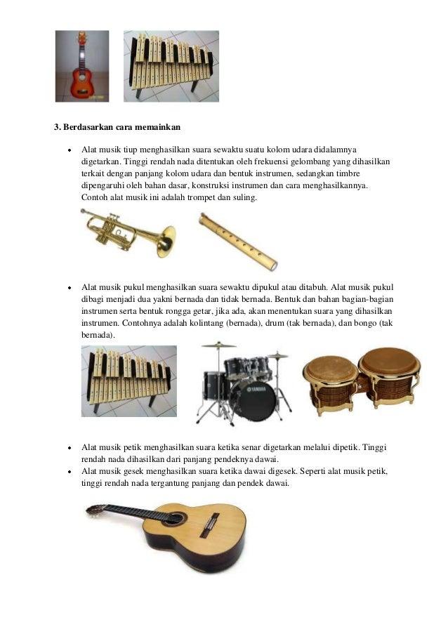 Contoh Alat Musik Ritmis Melodis Harmonis Dan Cara ...
