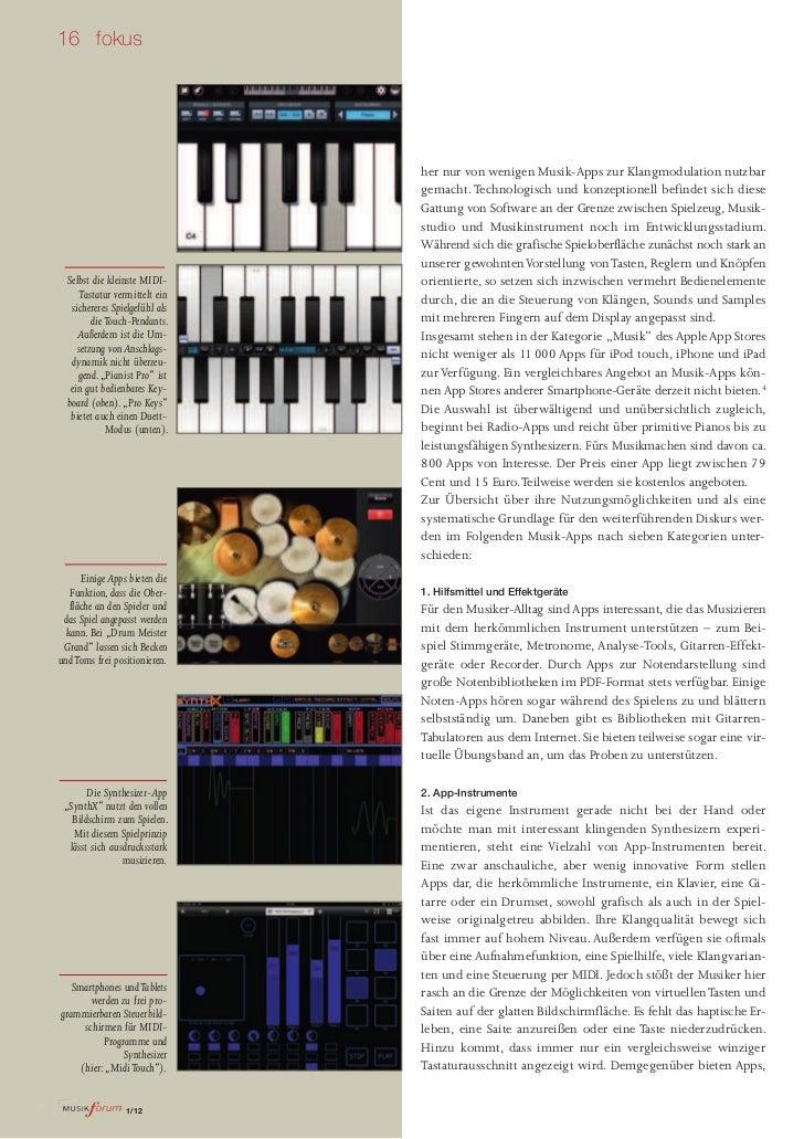 16 fokus                                her nur von wenigen Musik-Apps zur Klangmodulation nutzbar                        ...