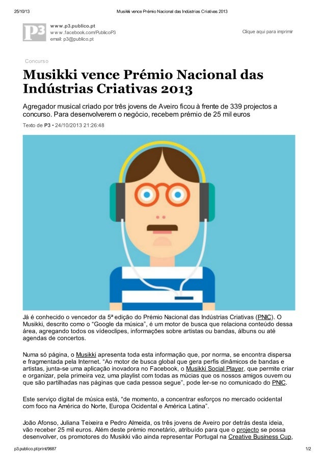Musikki vence Prémio Nacional das Indústria Criativas