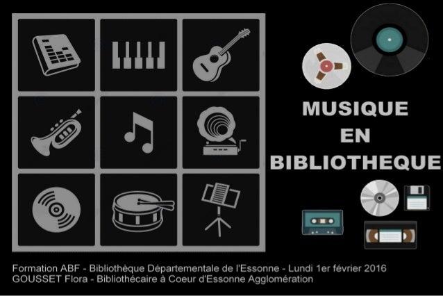 Musique en bibliothèque
