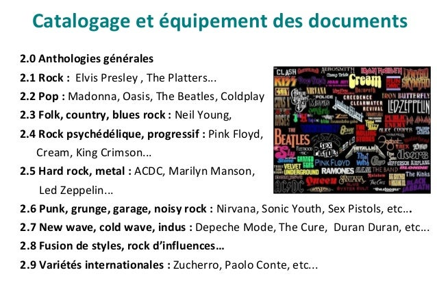 Catalogage et équipement des documents Exemple de notice de CD :