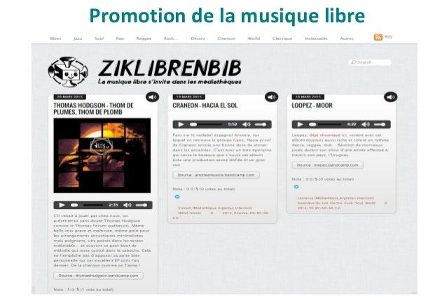 Pour aller plus loin Liste de pages slideshare non exhaustive de professionnels de la musique en médiathèque : ● Nicolas B...
