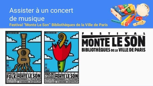 """Assister à un concert de musique Festival """"Monte Le Son"""" Bibliothèques de la Ville de Paris"""