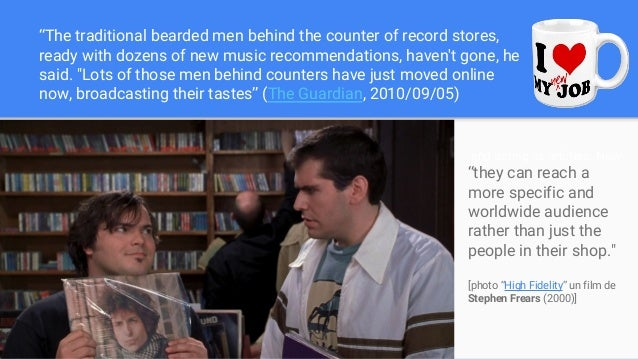 """""""The traditional bearded men behind the counter of record stores, ready with dozens of new music recommendations, haven't ..."""