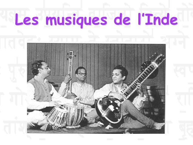 Les musiques de l'Inde