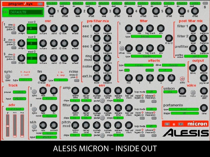 ALESIS MICRON - INSIDE OUT
