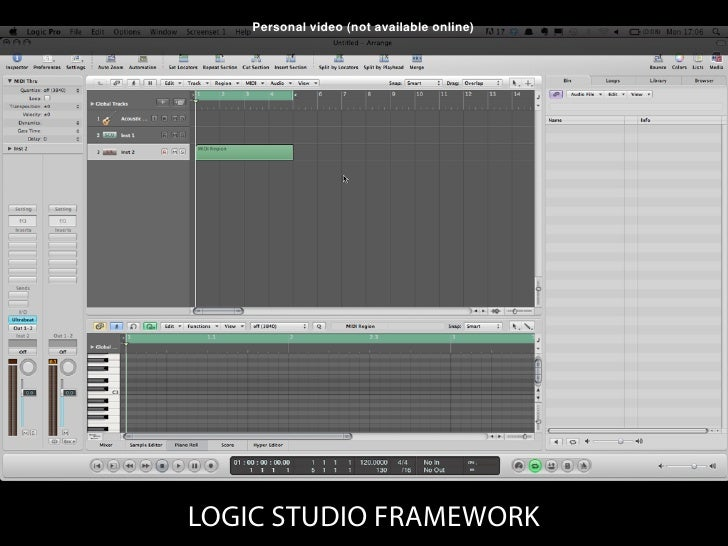 Personal video (not available online)                LOGIC STUDIO BROWSE