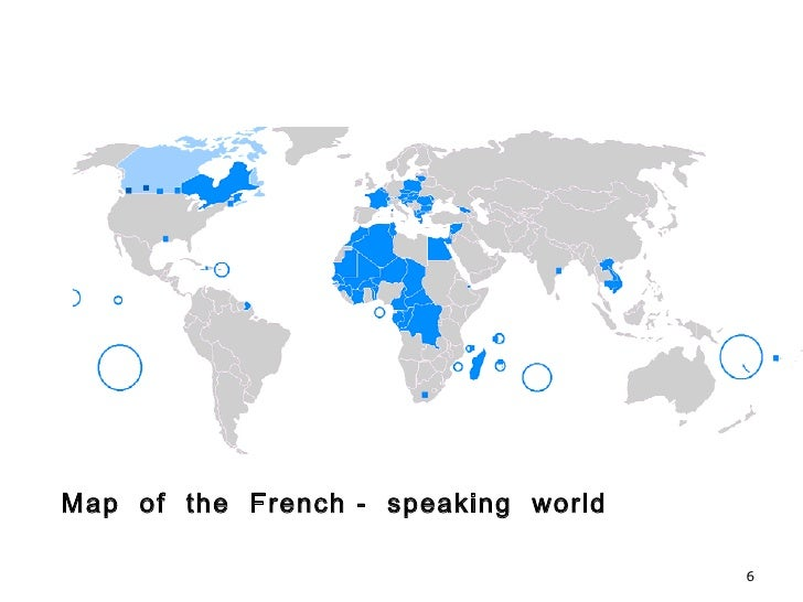 French made easy map of the french speaking world gumiabroncs Choice Image