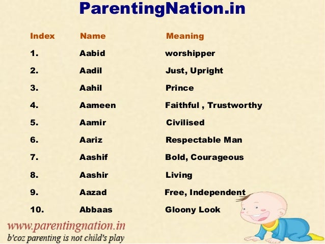 Modern islamic names for baby