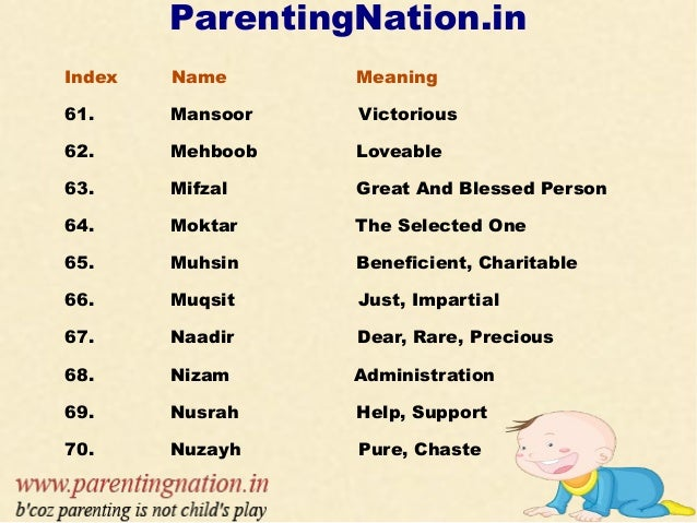 Tag Muslim Baby Boy Names With Meaning 2018