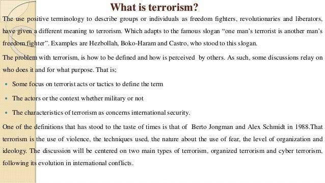 Terrorism the question of definition