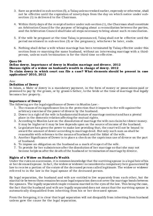 mahr in muslim law