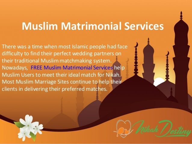 Muslim Matrimonial Services for Wedding