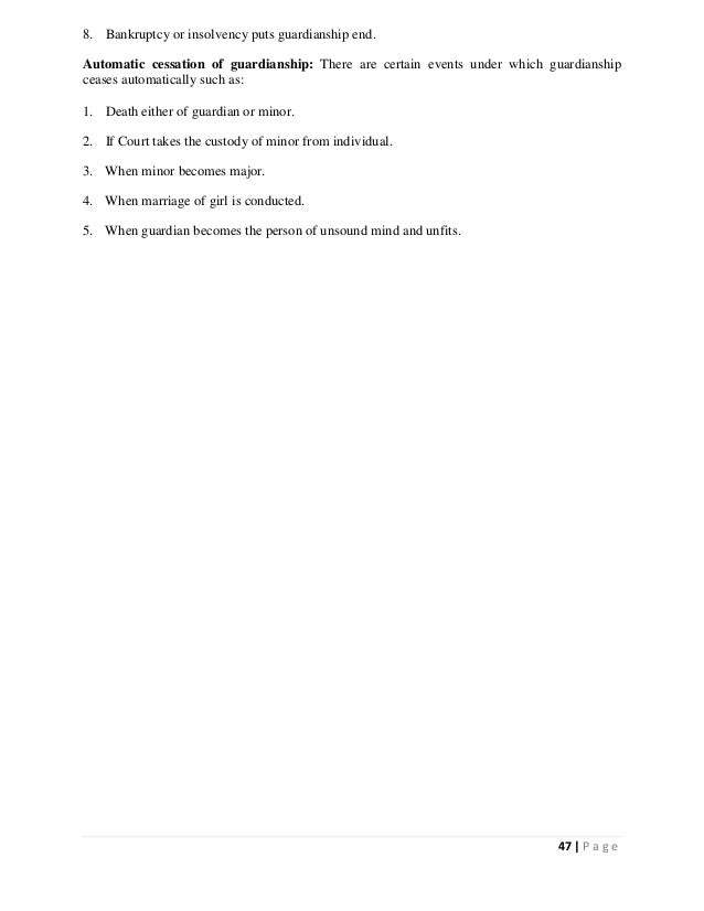 Muslim Personal Law Short Study Notes (LLB Part 2)