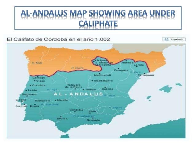 Map Of Spain Under Muslim Rule.Muslim Rule In Spain