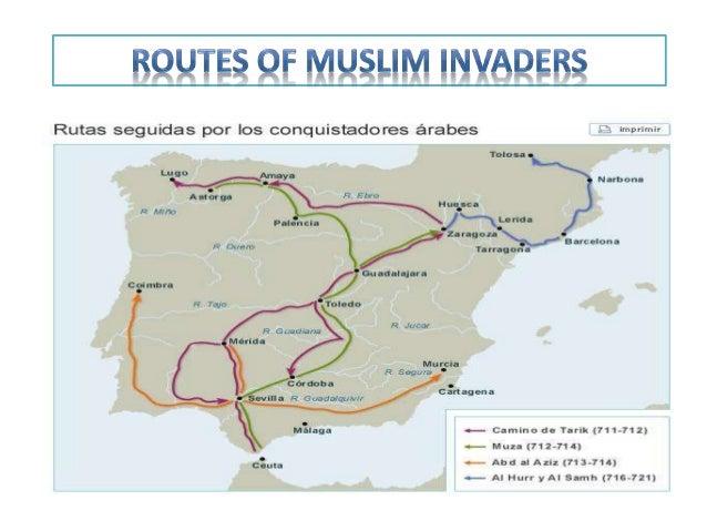 Map Of Spain During Muslim Rule.Muslim Rule In Spain