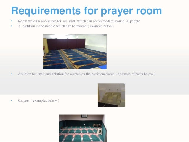 Exceptional Requirements For Prayer Roomu2022 ... Part 4
