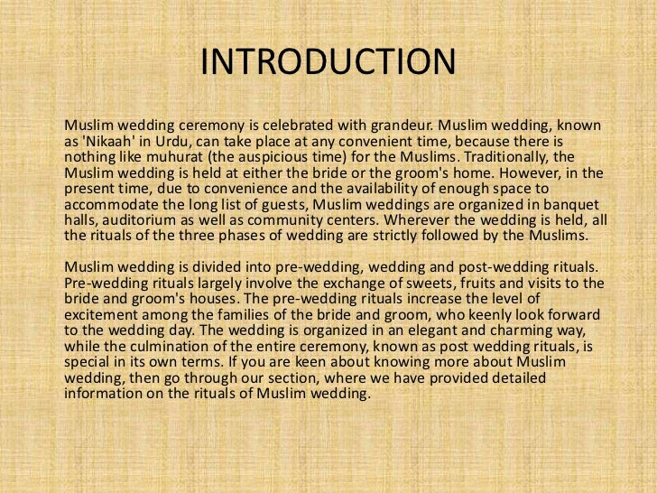 Essay on marriage ceremony