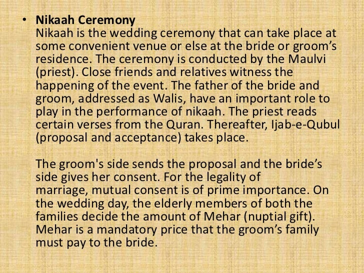 Typical Wedding Gift Amount: Muslim Wedding Traditions