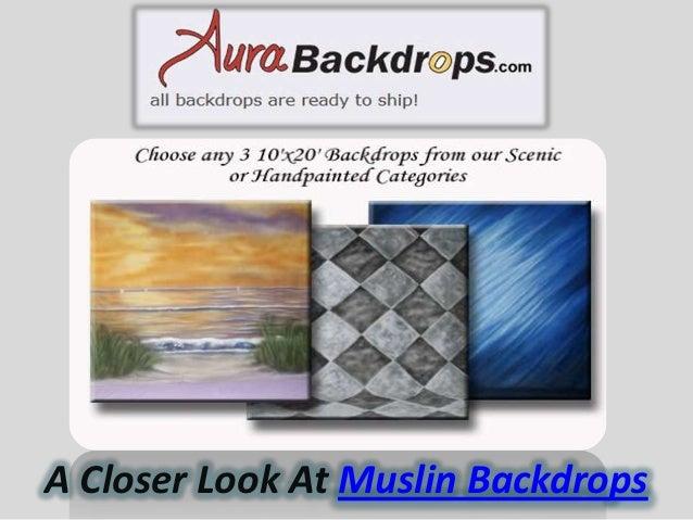 A Closer Look At Muslin Backdrops