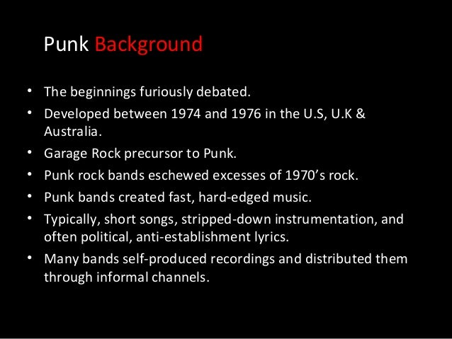 societys misconception of punk music Punk feminism has a history of it's own, but the umbrella of punk music can always use a dose of intersectional feminism and contrary to common misconception.