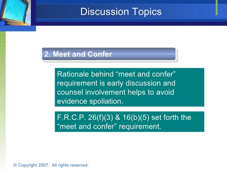 meet and confer requirement demurrer to evidence