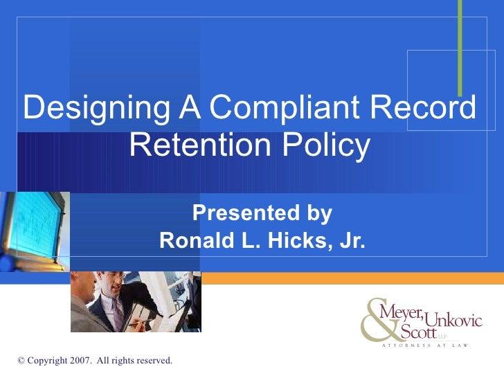 designingacompliantrecordretentionpolicy1728jpgcb 1297930302 – Document Retention Policy